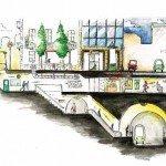 Les bouches de métro : un des symboles du passage entre le dessus et le dessous (c) Thibaud Leduc