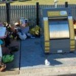 Les dépôts de déchets effectués au pied des conteneurs plutôt qu'à l'intérieur