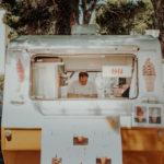 Vendeur de glaces ambulant en Espagne